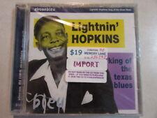 LIGHTININ' HOPKINS KING OF THE TEXAS BLUES 25 TRK 1999 ZIRCON CD BLEU 508 OOP