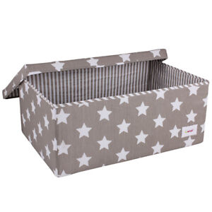 Minene GREY Star Storage Boxes - a fun & stylish storage solution for playrooms