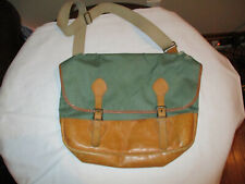Vintage LL Bean Canvas and Leather SHell Ammo Birding bag