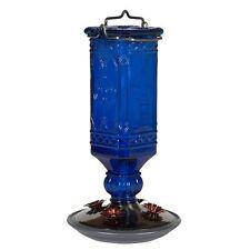 Perky-Pet 8117-2 Cobalt Blue Antique Bottle Hummingbird Feeder, 16 Ounce , New,