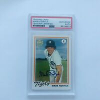 MARK FIDRYCH TIGERS HAND SIGNED CARD PSA DNA AUTO 2003 TOPPS FAN FAVS