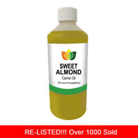 1L SWEET ALMOND OIL PREMIUM Cold Pressed Natural Carrier/Base 1 Litre