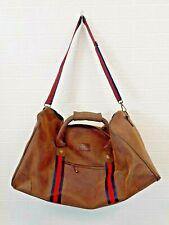 Kangol Unisex Holdall Brown Travel Bag Red Navy Straps Overnight Gym Weekend Bag