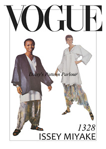 Vogue Sewing Pattern Issey Miyake 1328 L GRADED Plus Harem Top Trousers Jacket