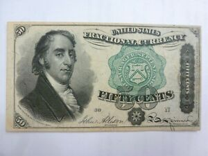 50 Cents 4th Issue Fractional Currency FR1379 Green Seal Samuel Dexter