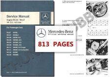 Mercedes M116 M117 V8 Service Workshop Repair Manual w108 w109 w111 r107 w116