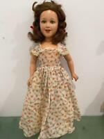 "Ideal 1938 Deanna Durbin 20"" Compo Doll Orig Tagged Dress Human Hair Movie Star"