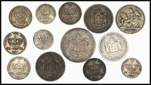 Greece, King George I Silver coins Lot (13 silver coins) 1873-1910
