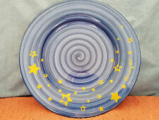 "11"" Swirling Blue Plate - ""Shining Star"""