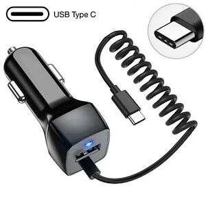 Fast USB-C Type C Fast Adaptive Car Charger for Samsung Galaxy S8 S9 S10 Note 9