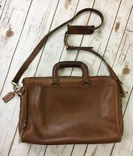 Vtg COACH Briefcase DISTRESSED BROWN LEATHER Messenger Laptop Man Bag