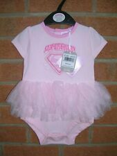 BNWT Girls Baby Outfit Pink TUTU Age 3-6m NEW