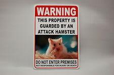 WARNING ATTACK Hamster Pet Guard on Duty Yard  sign vinyl lettering