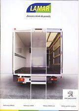 Peugeot Boxer Lambox 2015 catalogue brochure rare fourgon