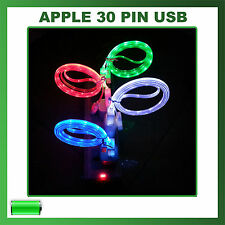 CAVO CAVETTO USB LED LUMINOSO COLORATO 30 PIN IPHONE 3 3GS 4 4S IPOD TOUCH IPAD