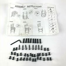Pack of Hardware Kit Bolts for Costway Bar Stools Swivel Seat Kitchen Pub Chair
