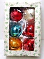Vintage Christmas Ornaments Hand Blown Glass Made Germany Mixed Lot of 6 Balls