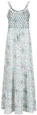 Ex Marks and Spencer Indigo Medina Summer Long Maxi Dress Size 8 - 22 (TS6)