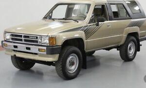 Vintage Style Toyota Sr5 4Runner 84 85 86 87 88 Vinyl Decals graphics stickers