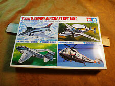 Tamiya 1/350 Scale US Navy Aircraft Set No 2 Military Model - Free S&H USA
