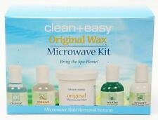CLEAN + EASY ORIGINAL WAX MICROWAVE KIT BRING THE SPA HOME WAXING MADE SIMPLE