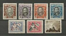 Lithuania Litauen 1928 MH Mi 281-287 Sc 226-232 Tenth Anniver. Independence iss