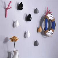 1 Pcs Wood Wall Hanger Chic Water Drop Bathroom Door Coat Hat Single Hook Holder