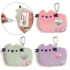 Gund New * Pastel GREEN Pusheen ID Holder * Plush 5-Inch Cat Kitty Wallet Case