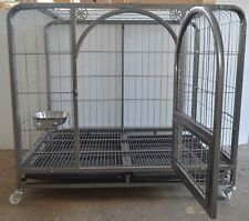 """44"""" Pet Dog Crate Kennel Cage Folding Metal Wire Large Durable Safe Secure"""