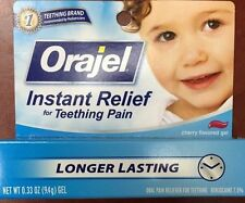 Orajel Teething Pain Relief, Cherry Flavor Gel .33 oz