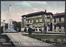 ALESSANDRIA CITTÀ 133 MONUMENTO ai CADUTI SUL LAVORO Cartolina FOTOG. viagg 1957