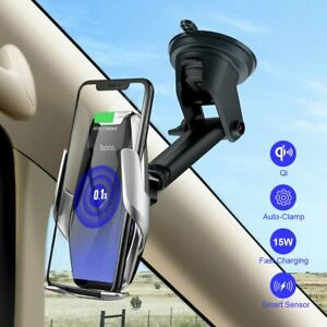 HOCO 15W Wireless Car Charger Automatic Infrared Clip  Air Vent Car phone holder