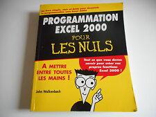 PROGRAMMATION EXCEL 2000 POUR LES NULS - JOHN WALKENBACH