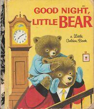 VINTAGE LGB LITTLE GOLDEN BOOK SYDNEY No.383 GOOD NIGHT LITTLE BEAR P & R Scarry