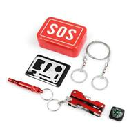 Outdoor Emergency Survival Gear Kit Camping Tactical in 1 Tools 6 SOS With B7L7