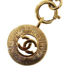 CHANEL Logo Kreis Halskette Goldton Frankreich Vintage Authentisch #ZZ476 I