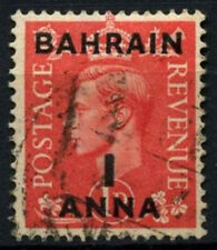 Bahrain 1948-9 SG#52, 1a On 1d Pale Scarlet KGVI Used #D48868