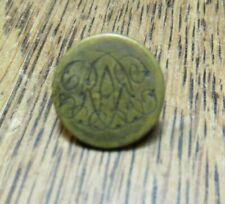 ANTIQUE HUNT BRASS BUTTON ROYAL ARTILLERY MILITARY 14 MM EARLY 1900'S FIRMIN