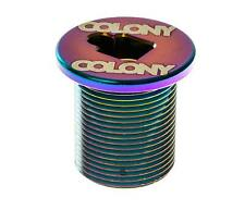 COLONY M25 BMX Fork Bolt - Jet Fuel Jetfuel Rainbow Oil Slick
