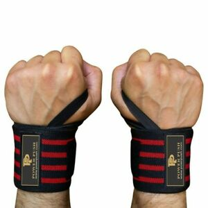 2 X Wrist Thumb Brace Strap Power Weight Lifting Hand Wrap Support Gym Training