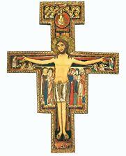 San Damiano Wall Cross Crucifix Printed Icon Christ Crucifijo Catholic Cruz