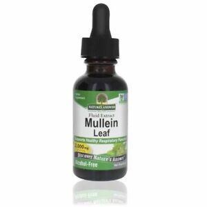 Nature s Answer Mullein  2000 mg 1 fl oz 30 ml  Kosher Alcohol Free