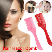 2Pcs Hairdressing Cutting Blades.Thinning Comb with Removable Blades Hair Comb