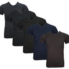 Gestreifte figurbetonte Kurzarm Herren-T-Shirts aus Baumwolle