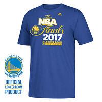 adidas Short Sleeve Golden State Warriors Men Shirt Blue 2017 Champions Finals