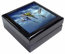 Budgies in Flight Keepsake/Jewellery Box Christmas Gift, AB-96JB