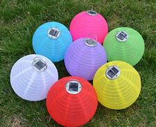 10 Pcs Solar Chinese Lantern (12inch 3Led) Wedding Party Light Garden Lamp New #
