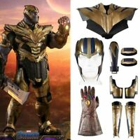 Avengers 4 Endgame Thanos Costume Cosplay Vest Gloves Helmet Men Outfit Props