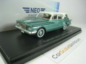 PLYMOUTH VALIANT STATION WAGON 1960 1/43 NEO (GREEN / WHITE)