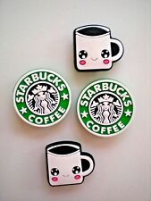 Starbucks Clog Shoe Charm Coffee Cup Fits Jibbitz Wristband For Croc Accessories